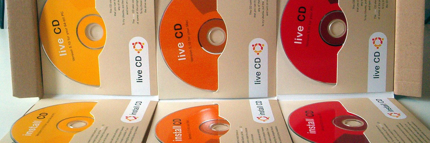 All the Ubuntu CDs I received for free at home